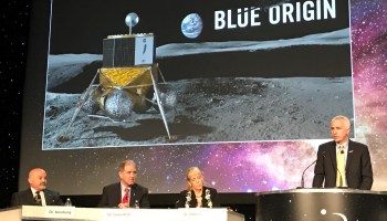 Blue Moon lander during Space Symposium panel