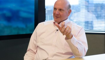 Steve Ballmer shows how AI and data will enhance NBA broadcasts for fans