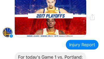 Golden State Warriors launch Facebook Messenger bot for fans to use during NBA Playoffs