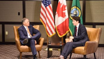 Continuation of a 'beautiful friendship': Canadian PM Trudeau meets with Washington Gov. Inslee in Seattle