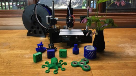 An early prototype of the BuildOne 3D printer