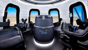 Blue Origin crew capsule and recycled New Shepard rocket debut at Oshkosh airshow