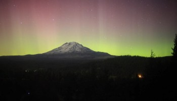 Mount Adams aurora