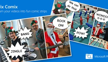 Microsoft's AI-powered iPhone camera app can now take multi-directional panoramas and turn videos into comic strips
