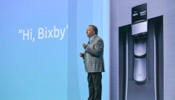 Hi, Bixby! At a CES awash in Amazon Alexa and Google Assistant, Samsung goes its own way
