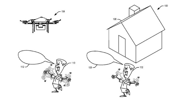 Waving at drones: The wackiest patent image you'll see