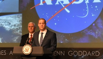 Pence and Bridenstine