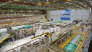 Boeing 767s under construction