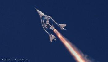 SpaceShipTwo test flight