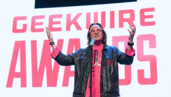 Bye bye rainy Bellevue? T-Mobile CEO John Legere tells Sprint workers he'd love to live in Kansas