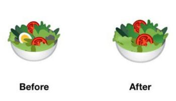 Android salad emoji