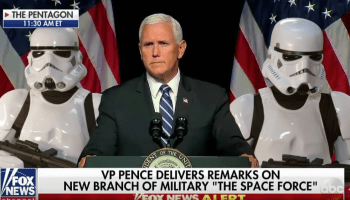 Late-night comics are over the moon when it comes to ridiculing Trump's Space Force plans