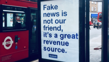 What's fake and what's real? Altered billboards challenge Facebook's version of the truth