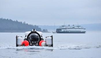 Cyclops 1 prepares to dive