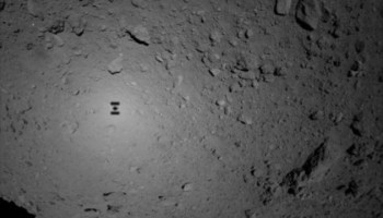 Hayabusa 2 sees its shadow