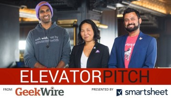 Three startups, 48 seconds, one iconic skyscraper: Who will win GeekWire's Elevator Pitch, Episode 8?