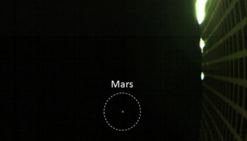 MarCO view of Mars