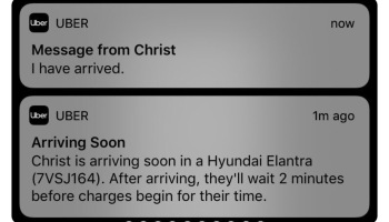 'Christ is arriving in a Hyundai': In perfect Uber alert, it appears Jesus has finally taken the wheel