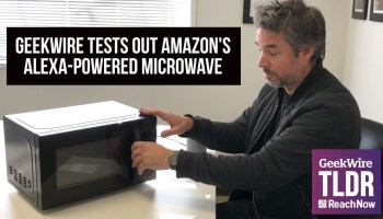 Alexa, heat up our leftovers: GeekWire gives Amazon's new voice-controlled microwave a spin