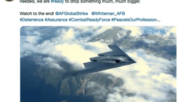 U.S. Strategic Command 'joke' about dropping something on New Year's Eve bombs on Twitter