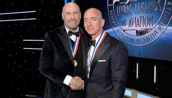 John Travolta and Jeff Bezos