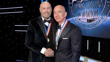 John Travolta and Jeff Bezos