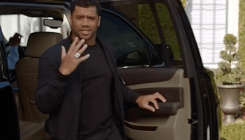 Seahawks star Russell Wilson uses Uber ads to prove he can poke fun at painful Super Bowl loss