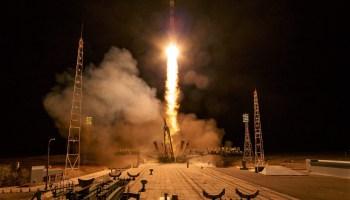 Soyuz liftoff