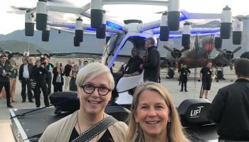Lindy Elkins-Tanton, Dava Newman and Jeff Bezos