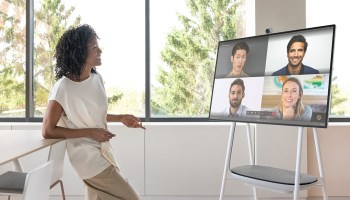 Microsoft unveils next-generation Surface Hub, starting at $9,000 and shipping in June