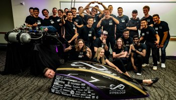 Washington Hyperloop pod and team