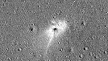 NASA's lunar orbiter spots the smoking hole left behind by Israel's moon lander