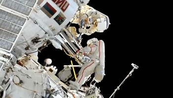 Russian cosmonauts send out a birthday tribute to the world's first spacewalker