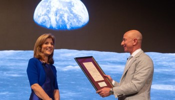Caroline Kennedy and Jeff Bezos