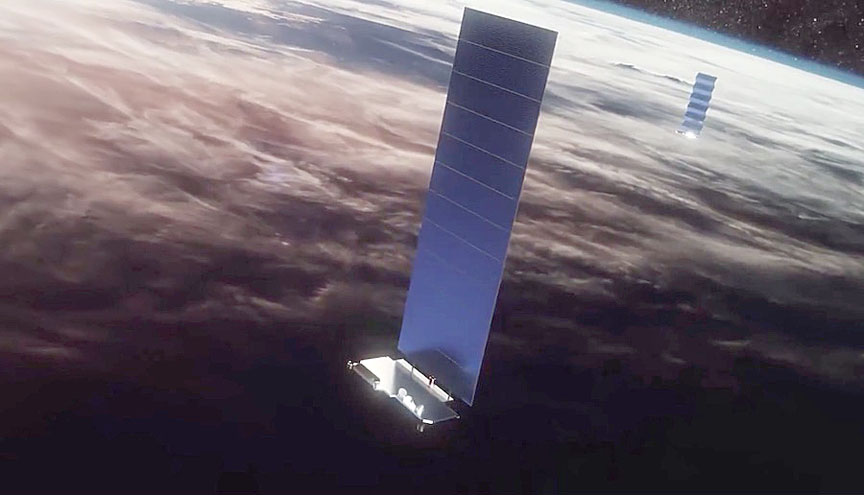 Spacex Reports Milestone For Starlink Satellite Links