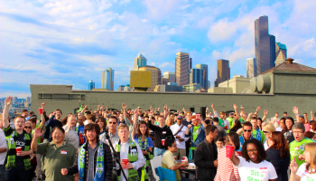 GeekWire Sounders Day returns: Everything you need to know for Wednesday's end-of-summer rooftop deck party