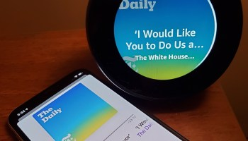Alexa will sync podcasts with smartphone apps, letting listeners pick up where they left off