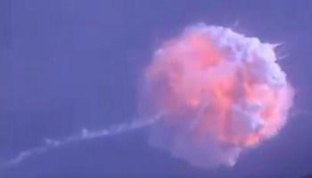 Falcon 9 booster blast