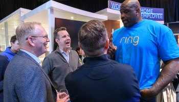 Inside Amazon's CES media event: Shaq shows up, touts Ring, makes drinks with celeb chef Guy Fieri