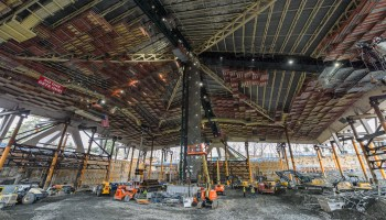 Inside another big dig in Seattle: Saving the roof at Key Arena is a 44-million-pound remodel marvel