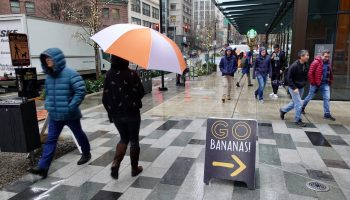 Take cover: Amazon's big umbrellas renew a stormy old debate about Seattle culture