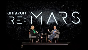Jenny Freshwater and Jeff Bezos