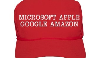Trump's twist on favorite acronym lumps Microsoft and Amazon into 'MAGA' with Google and Apple