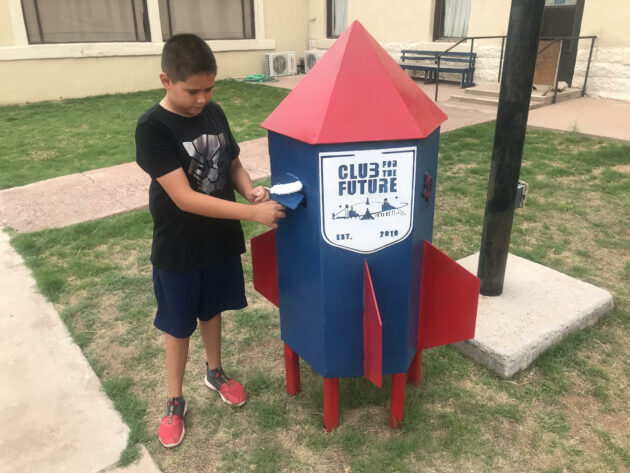"""""""Postcards to Space"""" mailbox"""