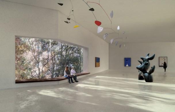 Una delle sale espositive dell'ampliamento della Fondazione Beyeler