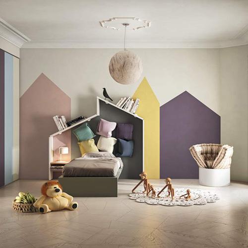 Un fotomurale con fantasie per la sala, una carta da parati con texture per il soggiorno o un motivo colorato per la camera dei bambini. Carte Da Parati 20 Idee Per Una Cameretta Da Sogno Casa Design