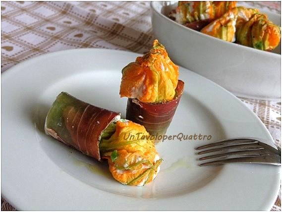 Candele di zucchine speck e fiori di zucchine  ricette Maria Grazia Montaldista  D  Repubblicait