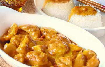 Riso basmati con pollo al latte di cocco e curry  ricette