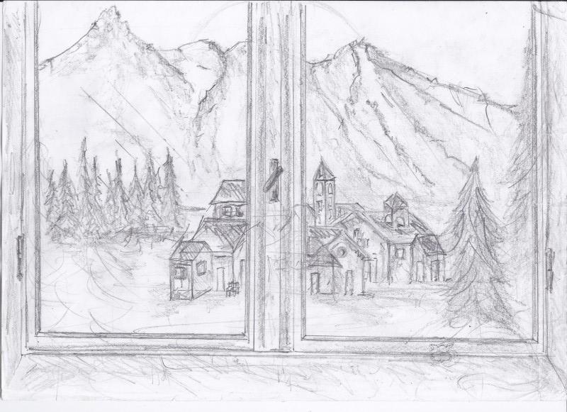 Paesaggio Montano Facile Da Disegnare Design Per La Casa E Idee