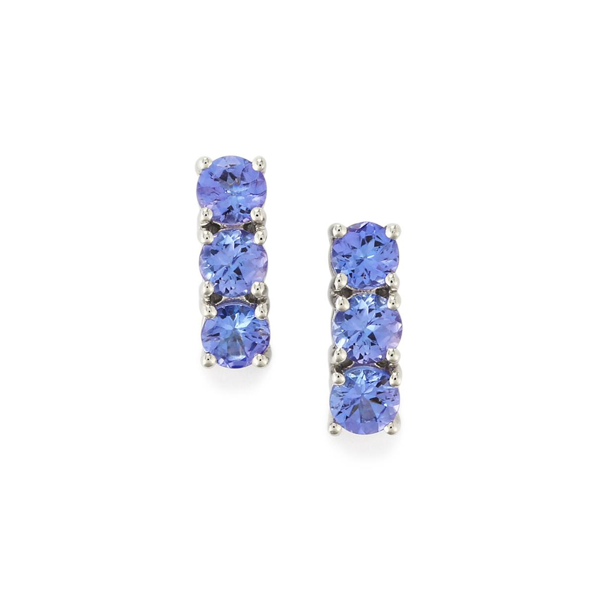 AA Tanzanite Earrings in Sterling Silver 1.73cts